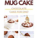 four images of a keto chocolate mug cake