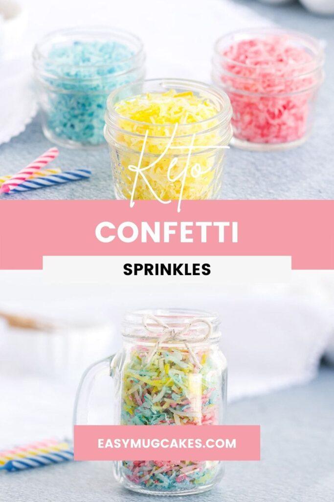 Colored coconut for keto confetti sprinkles
