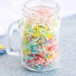 colored coconut shreds for keto confetti sprinkles