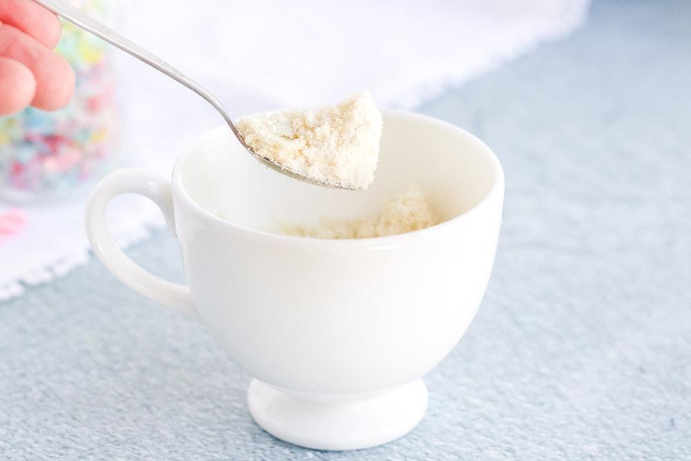 almond flour in a mug