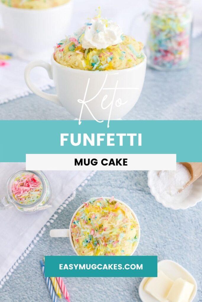 confetti cake in a mug