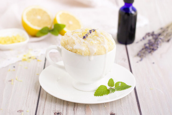 Keto Lemon Lavender Mug Cake Recipe