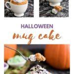 Pictures of a Halloween pumpkin mug cake