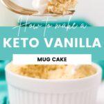 fork of vanilla mug cake